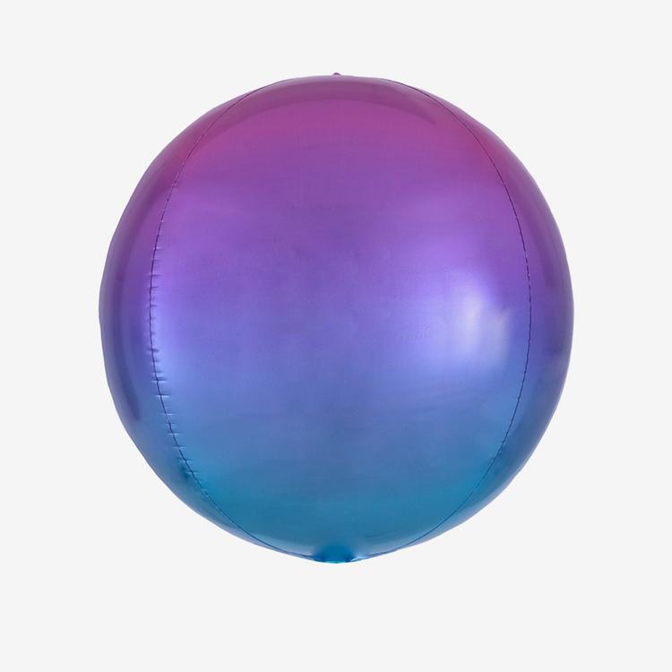 Folieballong - Orbz Ombre Purple & Blue