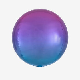 Folieballong - Orbz Ombre Purple & Blue
