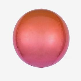 Folieballong - Orbz Ombre Red & Orange