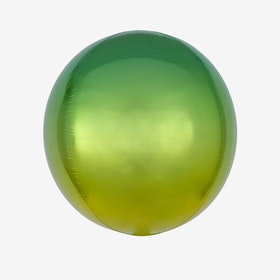 Folieballong - Orbz Ombre Yellow & Green