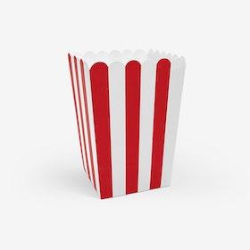 Popcornbägare - Röd/Vit