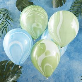 Ballonger - Marmorerade - Grön