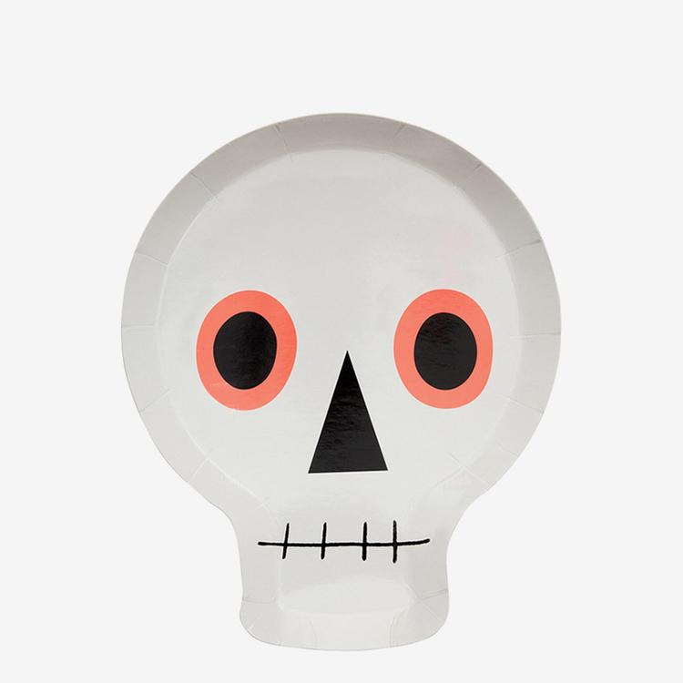Tallrikar - Neon Skull