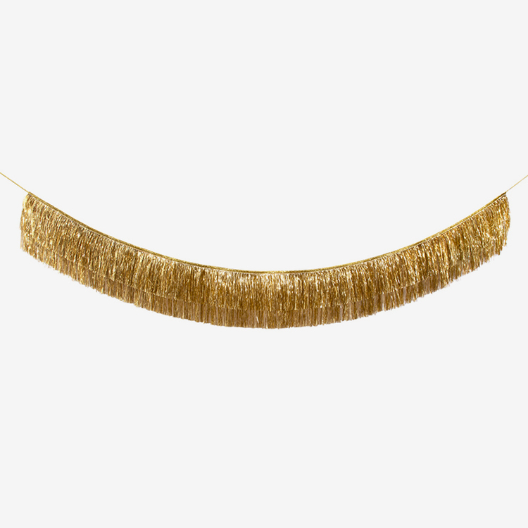 Girlang - Glitter Fransar - Guld