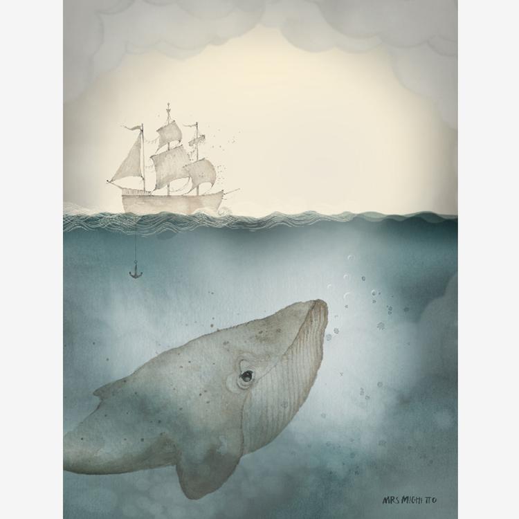 Ocean 18x24 - Mrs Mighetto