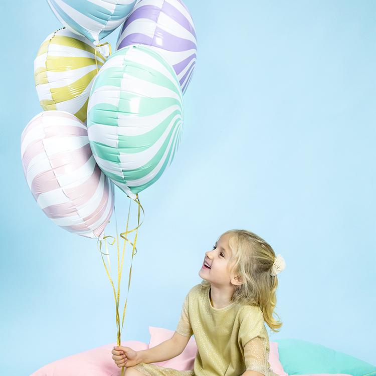Folieballong - Candy Ljusblå