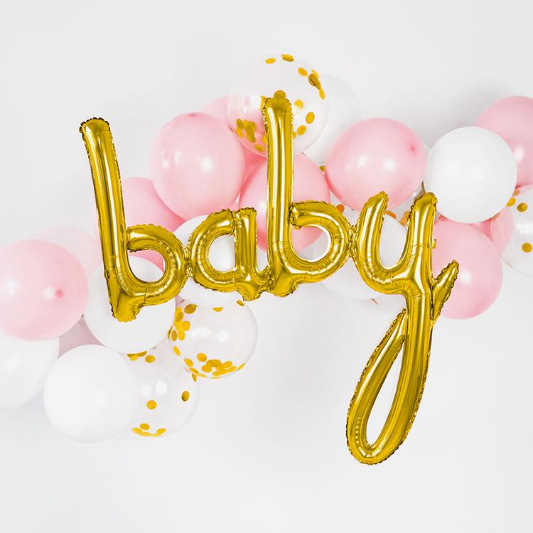 Folieballong - Baby - Guld
