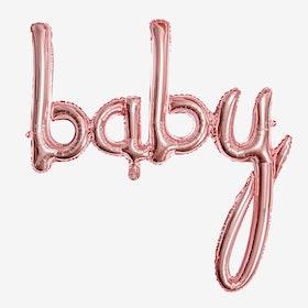 Folieballong - Baby - Rosé