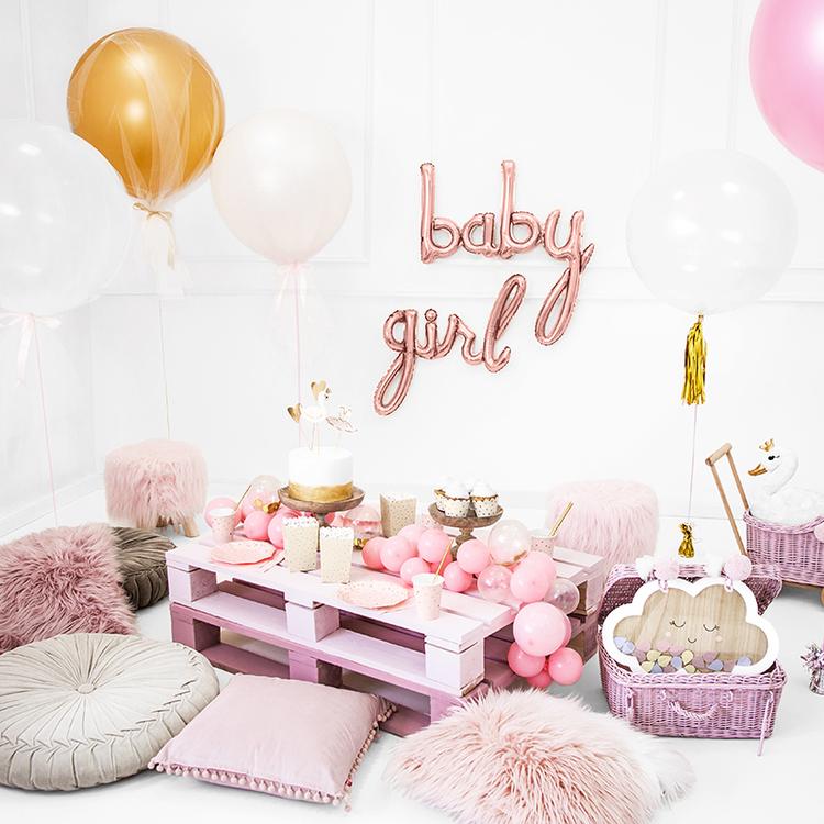 Folieballong - Girl - Rosé