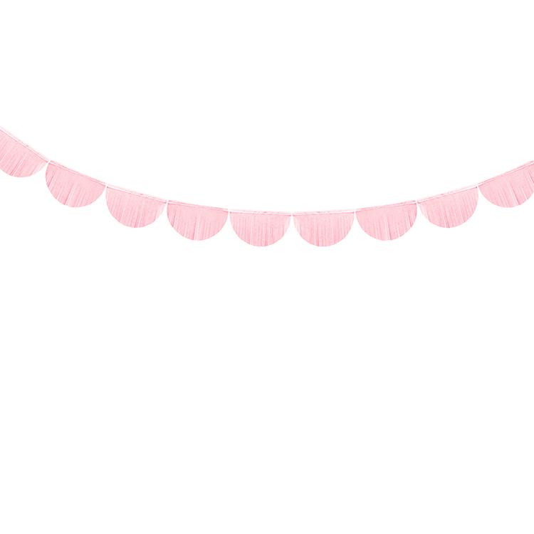 Girlang  - Scallop Fransar - Rosa