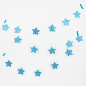 Girlang - Stjärnglitter - Blå