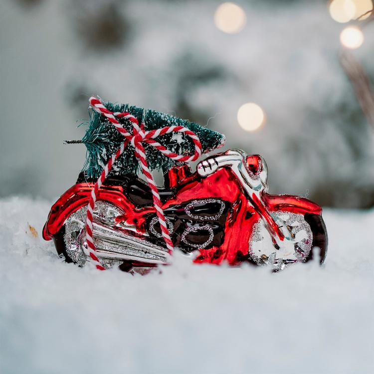Julgranskula - Motorcykel