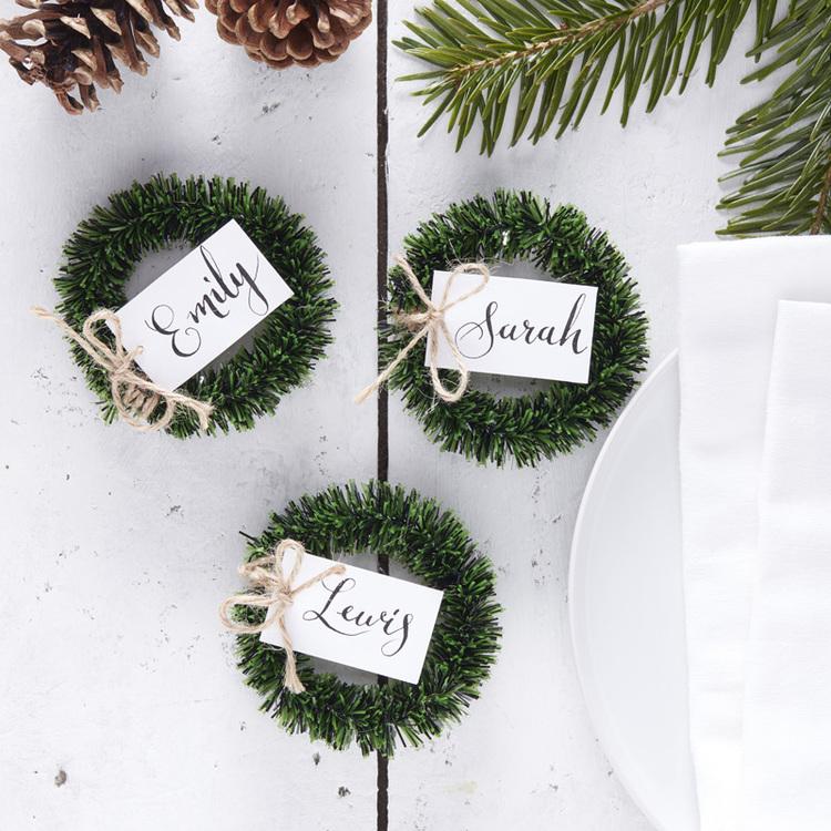 Placeringskort - Rustic Christmas
