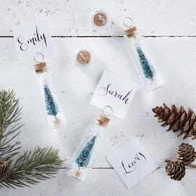 Placeringskort - Glasbehållare - Julgran