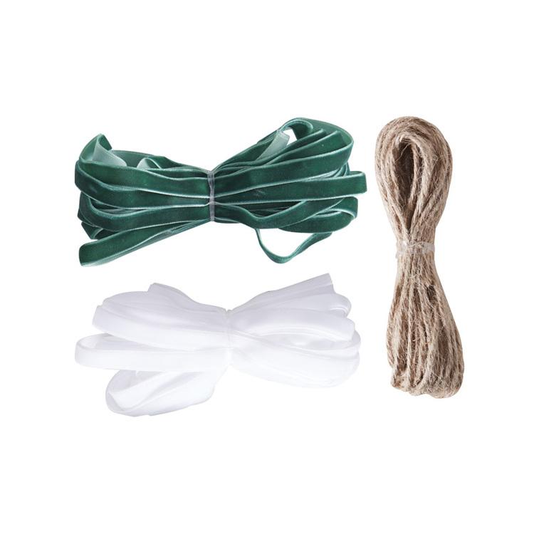 Presentband-kit Sammet - Grönt