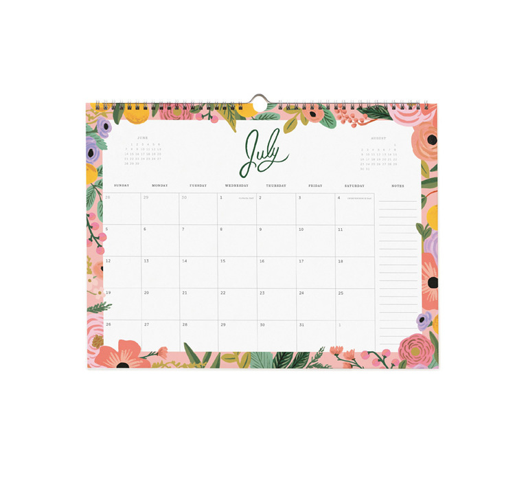 Väggkalender - 2020 Wild Rose - Rosa