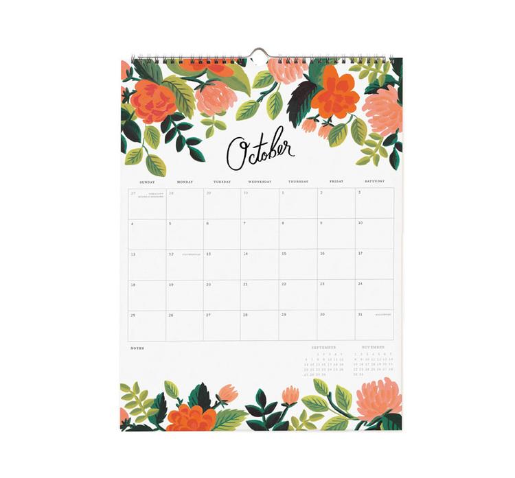 Väggkalender - 2020 Garden Blooms