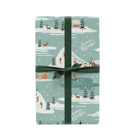 Presentpapper - Holiday Snow Scene