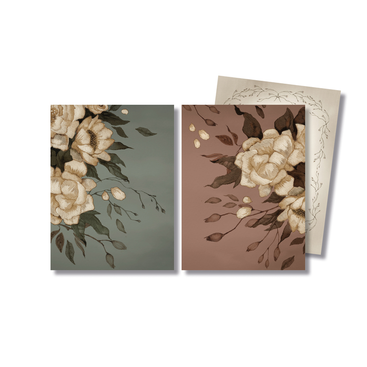 2-pack kort Peonies -  Mrs Mighetto