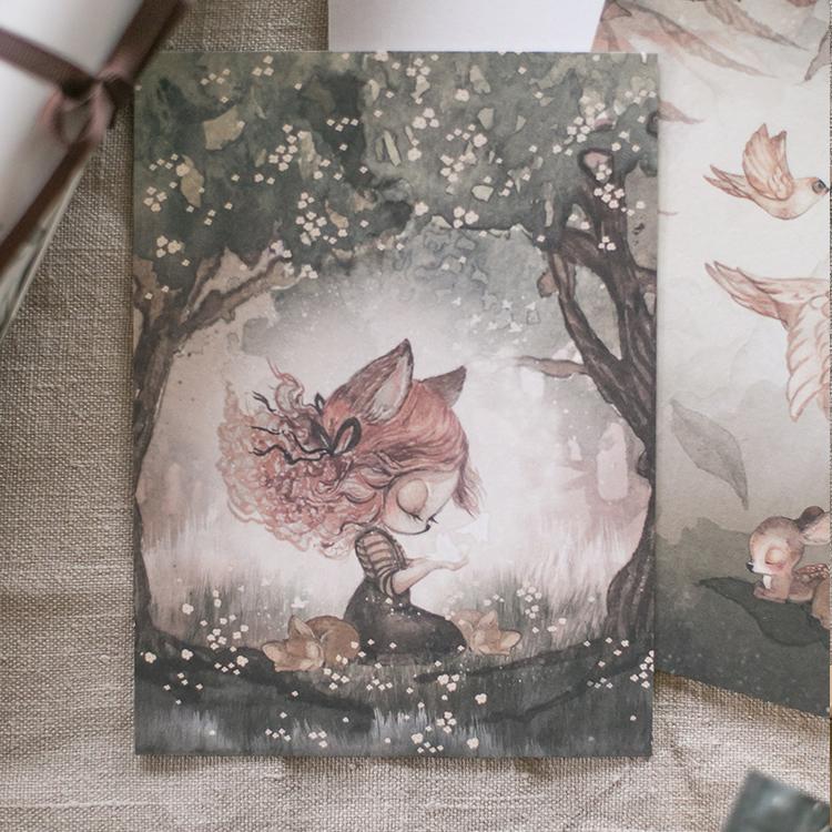2-pack kort Woods & Birds -  Mrs Mighetto