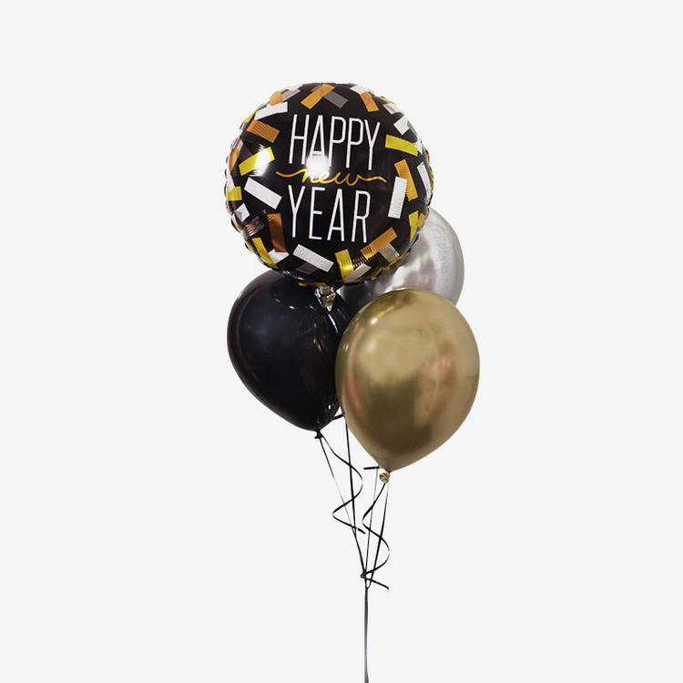 Ballongbukett Nyår - Enkel men fin