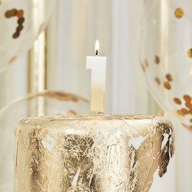 Tårtljus - 1:a - Ombre Guld