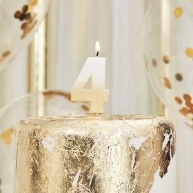 Tårtljus - 4:a - Ombre Guld