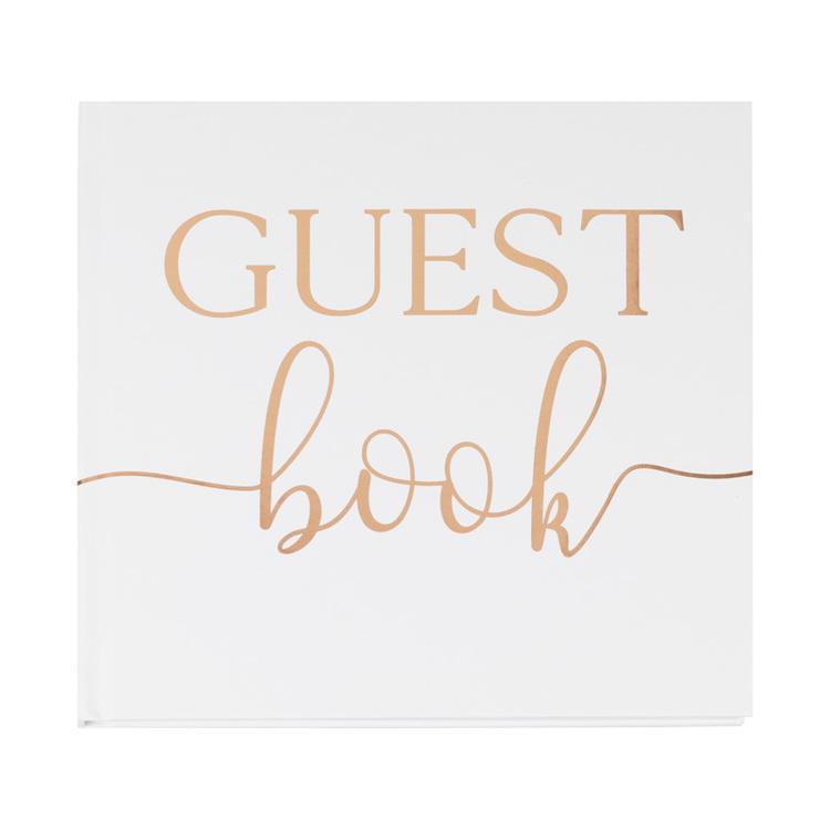 Gästbok - Vit och guld