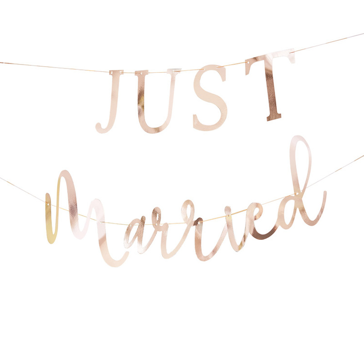Girlang - Just Married - Roséguld
