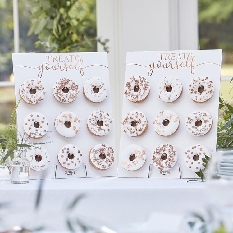 Donut Wall - Vit/Roséguld