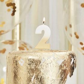 Tårtljus - 2:a - Ombre Guld
