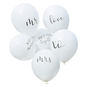 Ballonger- Bröllop - Budskap