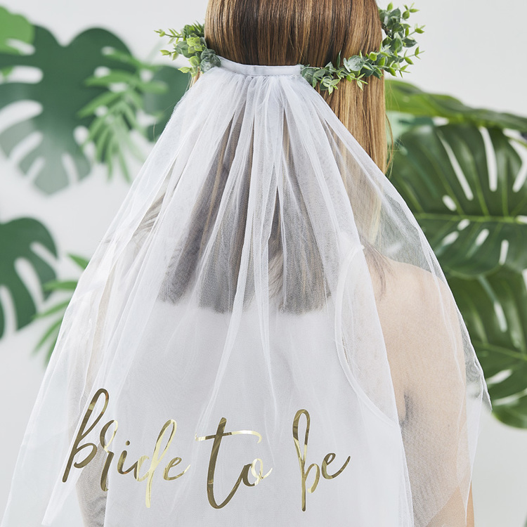 Slöja med Eucalyptuskrans - Bride To Be