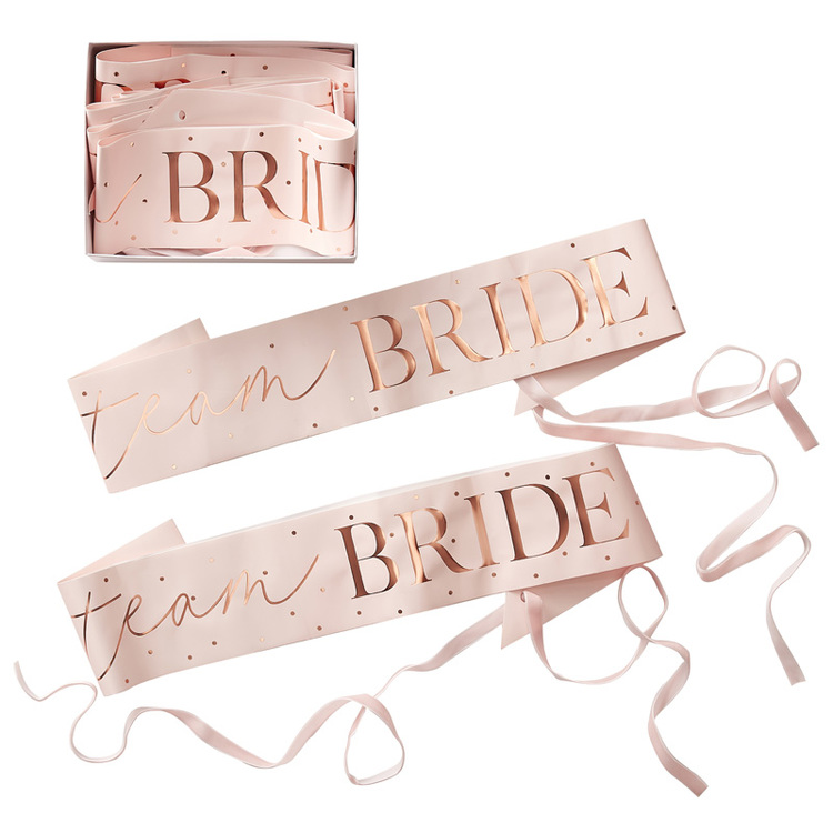 Sash- Team Bride - Blush