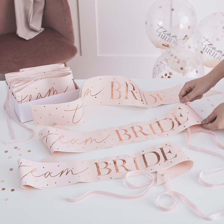 Sash- Team Bride - Blush