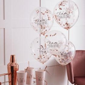 Konfettiballonger - Team Bride - Rosé