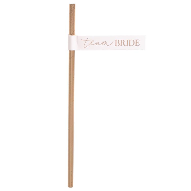 Sugrör - Flagga - Team Bride - Rosé