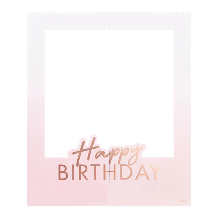 Photo Booth Ram - Happy Birthday - Personlig