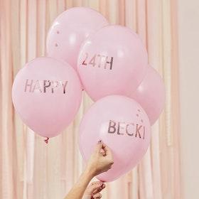Ballonger- personliga - Blush