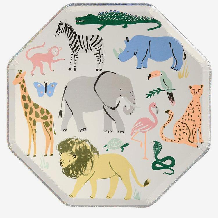Tallrikar - Safari Animals
