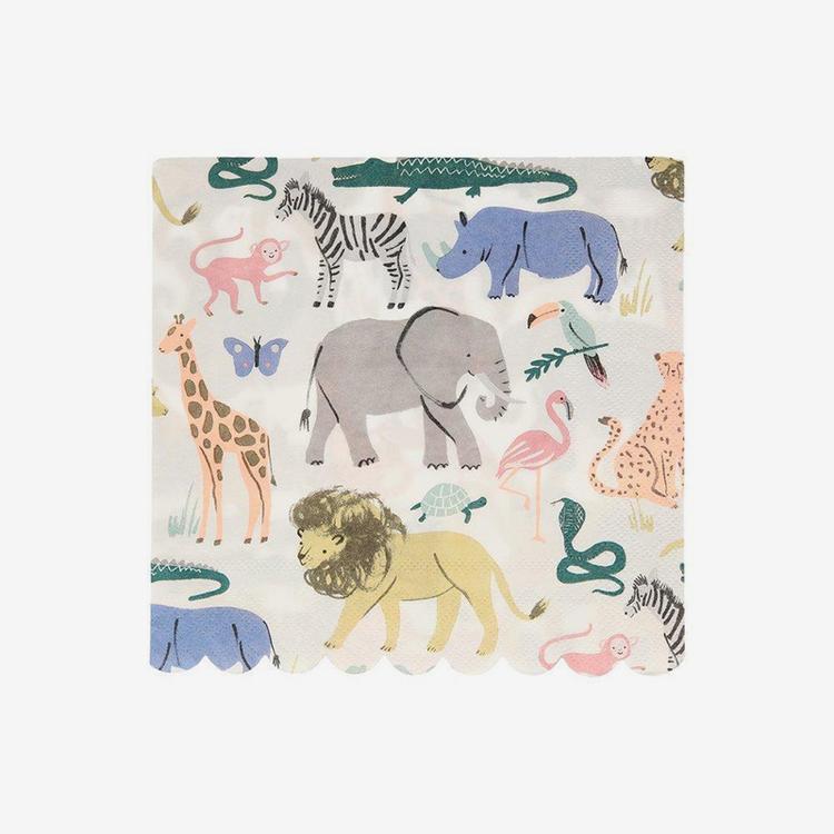 Servetter - Safari Animals