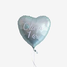 Personlig hjärtballong med helium - Valfri färg