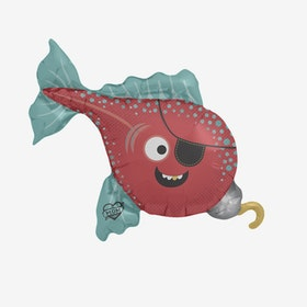 Folieballong - Piratfisk