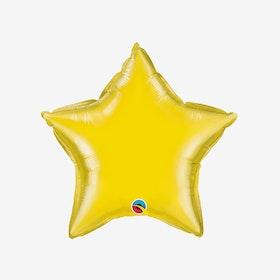 Folieballong - Stjärna Gul