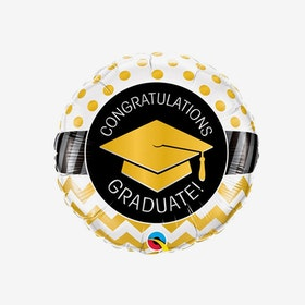 Folieballong - Congrats Guld