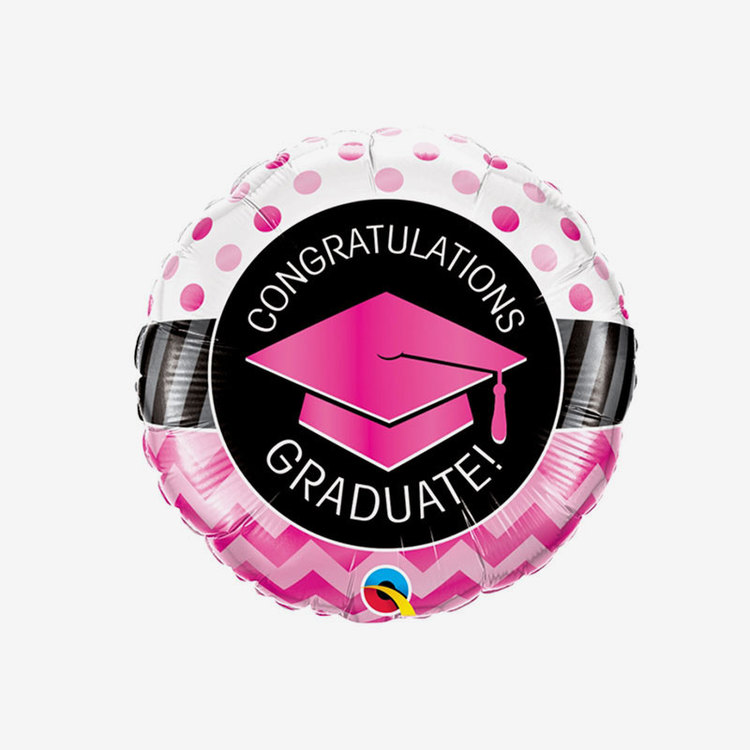 Folieballong - Congrats Rosa