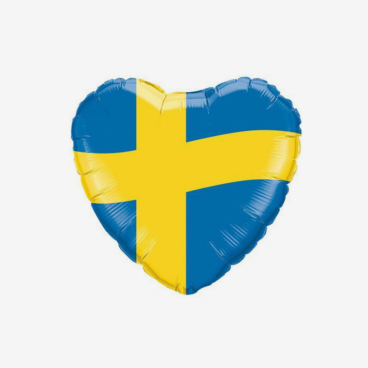 Folieballong-  Hjärta Sverige