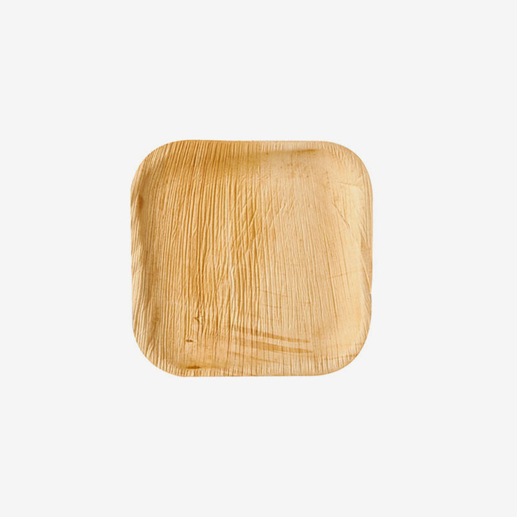 Tallrikar -  Palmblad Fyrkantiga