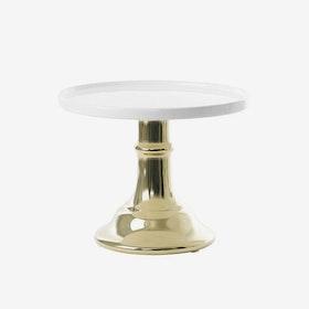 Tårtfat Keramik - Guld