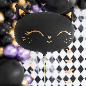 Folieballong - Katt - Svart